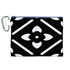 Black And White Pattern Background Canvas Cosmetic Bag (xl)