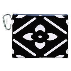Black And White Pattern Background Canvas Cosmetic Bag (xxl)