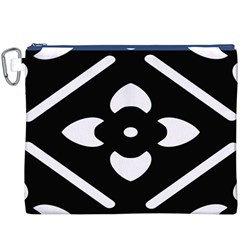 Black And White Pattern Background Canvas Cosmetic Bag (XXXL)