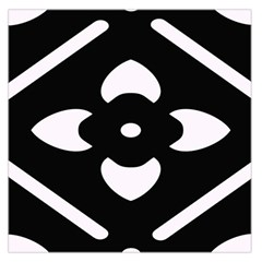 Black And White Pattern Background Large Satin Scarf (square)