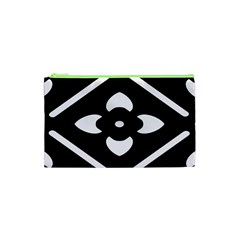 Black And White Pattern Background Cosmetic Bag (xs)