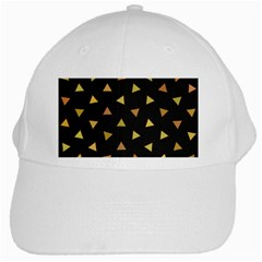 Shapes Abstract Triangles Pattern White Cap