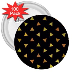 Shapes Abstract Triangles Pattern 3  Buttons (100 Pack)
