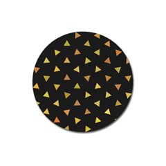 Shapes Abstract Triangles Pattern Magnet 3  (Round)
