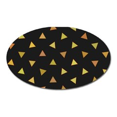 Shapes Abstract Triangles Pattern Oval Magnet