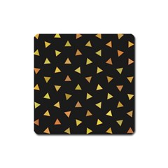 Shapes Abstract Triangles Pattern Square Magnet