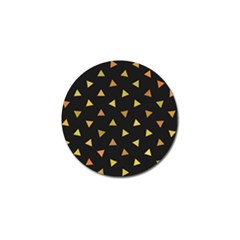 Shapes Abstract Triangles Pattern Golf Ball Marker