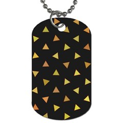 Shapes Abstract Triangles Pattern Dog Tag (Two Sides)