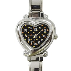 Shapes Abstract Triangles Pattern Heart Italian Charm Watch