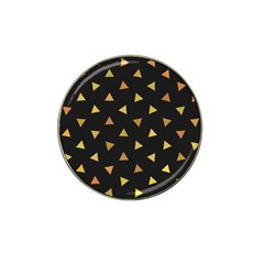 Shapes Abstract Triangles Pattern Hat Clip Ball Marker