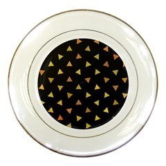 Shapes Abstract Triangles Pattern Porcelain Plates