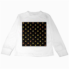 Shapes Abstract Triangles Pattern Kids Long Sleeve T Shirts