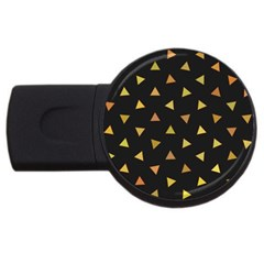Shapes Abstract Triangles Pattern USB Flash Drive Round (4 GB)