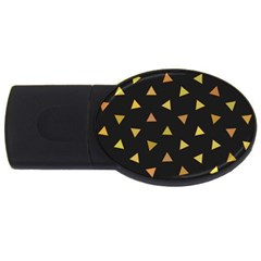 Shapes Abstract Triangles Pattern USB Flash Drive Oval (4 GB)