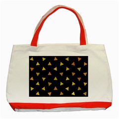 Shapes Abstract Triangles Pattern Classic Tote Bag (Red)