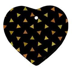 Shapes Abstract Triangles Pattern Heart Ornament (Two Sides)