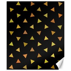 Shapes Abstract Triangles Pattern Canvas 8  x 10