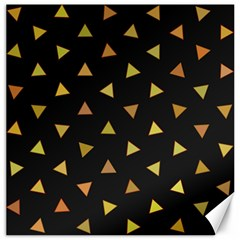 Shapes Abstract Triangles Pattern Canvas 12  x 12