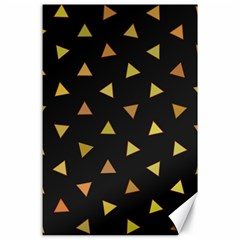 Shapes Abstract Triangles Pattern Canvas 24  x 36