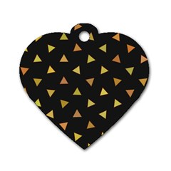 Shapes Abstract Triangles Pattern Dog Tag Heart (One Side)