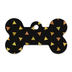 Shapes Abstract Triangles Pattern Dog Tag Bone (One Side)