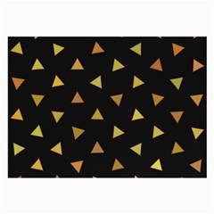 Shapes Abstract Triangles Pattern Large Glasses Cloth
