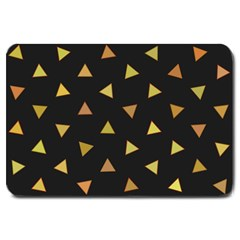 Shapes Abstract Triangles Pattern Large Doormat