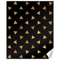 Shapes Abstract Triangles Pattern Canvas 11  x 14