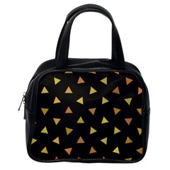Shapes Abstract Triangles Pattern Classic Handbags (One Side)