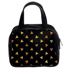Shapes Abstract Triangles Pattern Classic Handbags (2 Sides)