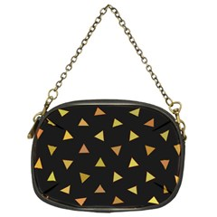 Shapes Abstract Triangles Pattern Chain Purses (One Side)