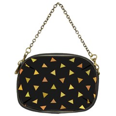 Shapes Abstract Triangles Pattern Chain Purses (two Sides)