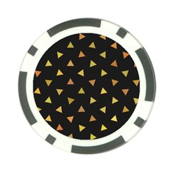 Shapes Abstract Triangles Pattern Poker Chip Card Guard (10 Pack)