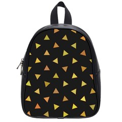 Shapes Abstract Triangles Pattern School Bags (Small)