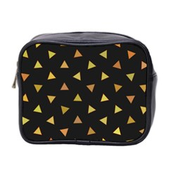 Shapes Abstract Triangles Pattern Mini Toiletries Bag 2-Side