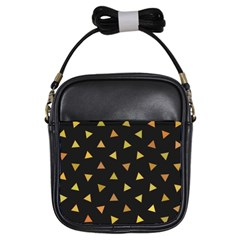 Shapes Abstract Triangles Pattern Girls Sling Bags