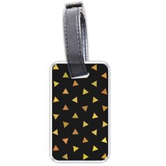 Shapes Abstract Triangles Pattern Luggage Tags (one Side)