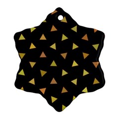 Shapes Abstract Triangles Pattern Snowflake Ornament (Two Sides)