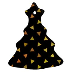 Shapes Abstract Triangles Pattern Christmas Tree Ornament (two Sides)