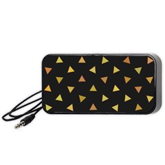 Shapes Abstract Triangles Pattern Portable Speaker (Black)