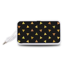 Shapes Abstract Triangles Pattern Portable Speaker (White)