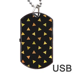 Shapes Abstract Triangles Pattern Dog Tag USB Flash (One Side)