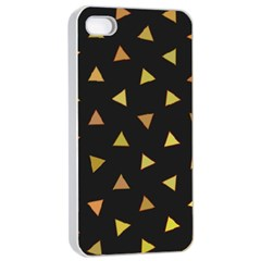 Shapes Abstract Triangles Pattern Apple iPhone 4/4s Seamless Case (White)