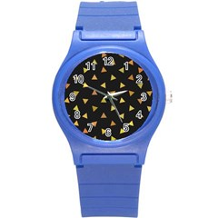 Shapes Abstract Triangles Pattern Round Plastic Sport Watch (s)
