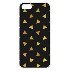 Shapes Abstract Triangles Pattern Apple iPhone 5 Seamless Case (White)