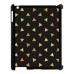 Shapes Abstract Triangles Pattern Apple iPad 3/4 Case (Black)