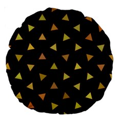 Shapes Abstract Triangles Pattern Large 18  Premium Round Cushions