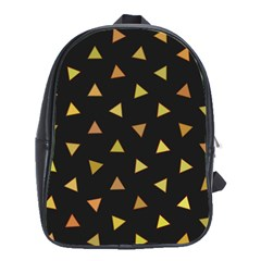 Shapes Abstract Triangles Pattern School Bags (XL)