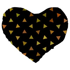 Shapes Abstract Triangles Pattern Large 19  Premium Heart Shape Cushions