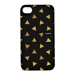 Shapes Abstract Triangles Pattern Apple iPhone 4/4S Hardshell Case with Stand